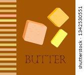 vector yellow stick of butter.... | Shutterstock .eps vector #1342530551