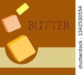 vector yellow stick of butter.... | Shutterstock .eps vector #1342530554