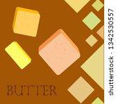 vector yellow stick of butter.... | Shutterstock .eps vector #1342530557
