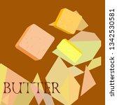 vector yellow stick of butter.... | Shutterstock .eps vector #1342530581