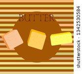 vector yellow stick of butter.... | Shutterstock .eps vector #1342530584