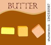 vector yellow stick of butter.... | Shutterstock .eps vector #1342530587