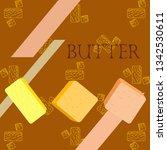 vector yellow stick of butter.... | Shutterstock .eps vector #1342530611