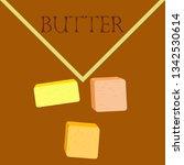 vector yellow stick of butter.... | Shutterstock .eps vector #1342530614
