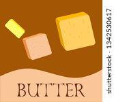vector yellow stick of butter.... | Shutterstock .eps vector #1342530617