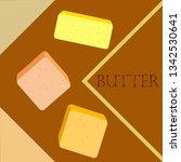 vector yellow stick of butter.... | Shutterstock .eps vector #1342530641
