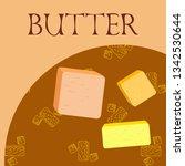 vector yellow stick of butter.... | Shutterstock .eps vector #1342530644