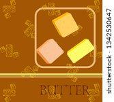 vector yellow stick of butter.... | Shutterstock .eps vector #1342530647