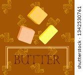 vector yellow stick of butter.... | Shutterstock .eps vector #1342530761