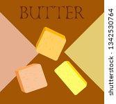 vector yellow stick of butter.... | Shutterstock .eps vector #1342530764
