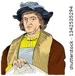 christopher columbus  1451 1506 ... | Shutterstock .eps vector #1342535294