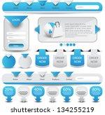 web designing element set | Shutterstock .eps vector #134255219