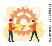 vector business illustration... | Shutterstock .eps vector #1342556801