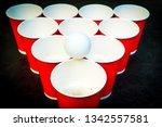 beer pong. a very popular game... | Shutterstock . vector #1342557581