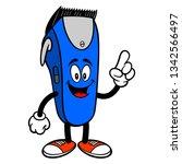 electrical hair clipper mascot... | Shutterstock .eps vector #1342566497