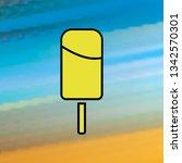 ice cream mono color icon....