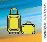 baggage mono color icon. simple ...