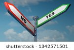 two street arrow signs ... | Shutterstock . vector #1342571501