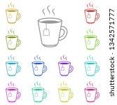 cup of tea multi color icon....