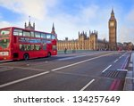 london   dec 21  iconic london... | Shutterstock . vector #134257649