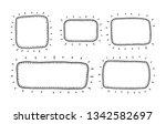 speech bubble set in sketch... | Shutterstock .eps vector #1342582697