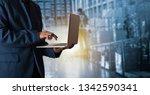 businessman manager using...   Shutterstock . vector #1342590341