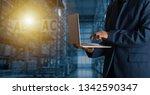 businessman manager using...   Shutterstock . vector #1342590347