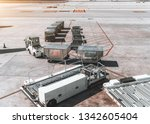 view of machinery on the take... | Shutterstock . vector #1342605404