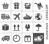 logistic   delivery icons.... | Shutterstock .eps vector #134261189