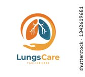 lungs care logo | Shutterstock .eps vector #1342619681