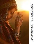beautiful fashion model posing... | Shutterstock . vector #1342622237