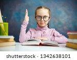 pretty caucasian primary... | Shutterstock . vector #1342638101