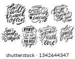 eat well  travel often. eat... | Shutterstock .eps vector #1342644347