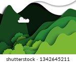 green mountains nature... | Shutterstock .eps vector #1342645211
