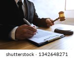 lawyer working with contract... | Shutterstock . vector #1342648271