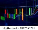 stock exchange market graph on... | Shutterstock . vector #1342655741