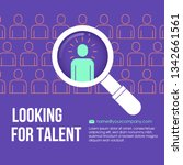 hr looking for a employee in... | Shutterstock .eps vector #1342661561