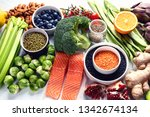 selection of healthy food.... | Shutterstock . vector #1342674134