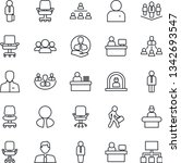thin line icon set   reception... | Shutterstock .eps vector #1342693547