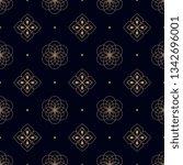 navy blue background ditzy... | Shutterstock .eps vector #1342696001