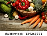 Organic Food Background...