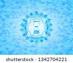 sand clock icon inside sky blue ...   Shutterstock .eps vector #1342704221