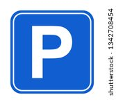 parking symbol graphic design... | Shutterstock .eps vector #1342708454