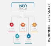 vector infographic template for ... | Shutterstock .eps vector #1342723634