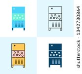 ice maker machine icon set in... | Shutterstock .eps vector #1342730864