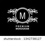 premium monogram template for... | Shutterstock .eps vector #1342738127