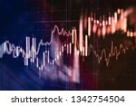 abstract glowing forex chart... | Shutterstock . vector #1342754504