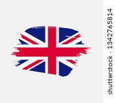 flag of united kingdom with... | Shutterstock .eps vector #1342765814