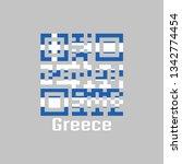 qr code set the color of greece ...   Shutterstock .eps vector #1342774454