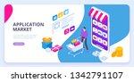 application market concept.... | Shutterstock .eps vector #1342791107